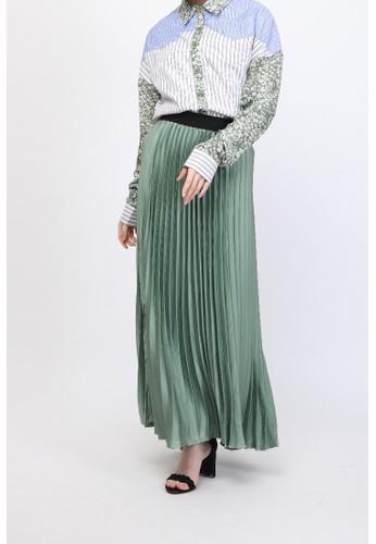Brand No Brand green Fhaasi Skirt AA5D4AAEA6116CGS_1