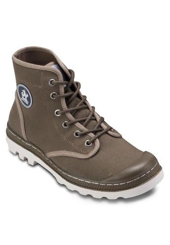 esprit 香港 outlet帆布繫帶低筒踝靴, 鞋, 休閒鞋