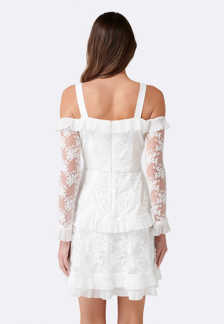 New White Trim Forever Frill Lucy Dress qwUZIWX