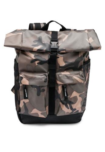 Superdry green Roll Top Tarp Backpack 1A344AC15EC797GS_1