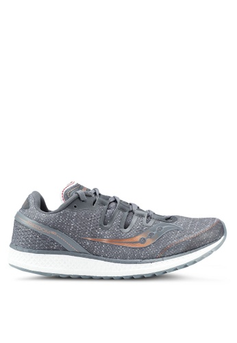 Saucony grey Freedom ISO Shoes SA304SH0SW4VMY_1