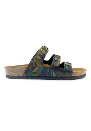 SoleSimple multi Ely - Camouflage Leather Sandals & Flip Flops CE367SH3825AC8GS_1