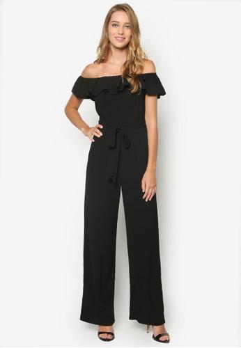 Black Bardoesprit holdings limitedt Jumpsuit, 韓系時尚, 服飾