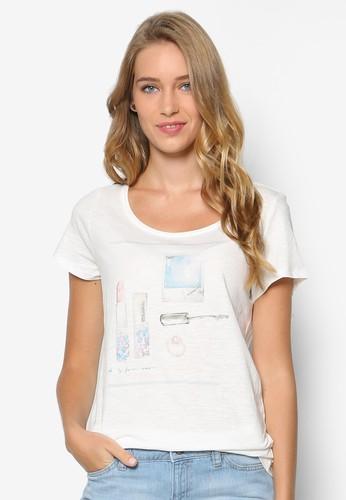 化妝品圖案寬鬆salon esprit 香港T 恤, 韓系時尚, 梳妝