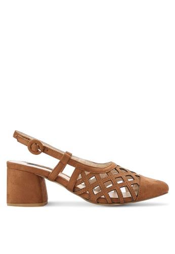ZALORA brown Slingback Mid Heels 06C4AZZ9C38F1FGS_1