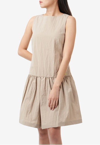 A|X Armani Exchange beige AX Armani Exchange Women Sleeveless Dress - Spring & Summer 2021 Collection A132AAA136BBDEGS_1