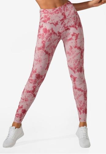 Lorna Jane pink Tie Dye Core Full Length Tight EE49BAA0CB6F46GS_1