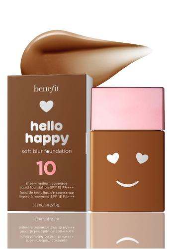 Benefit beige Hello Happy Soft Blur Foundation Shade 10 174CBBE098F265GS_1