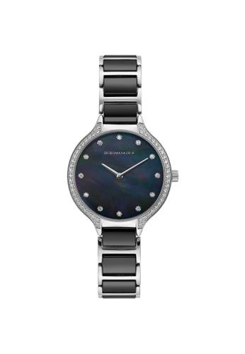 BCBG multi BCBGMAXAZRIA BG50678005 Silver and Black Ceramic and Stainless Steel Watch FD2F9ACA7B1C5EGS_1