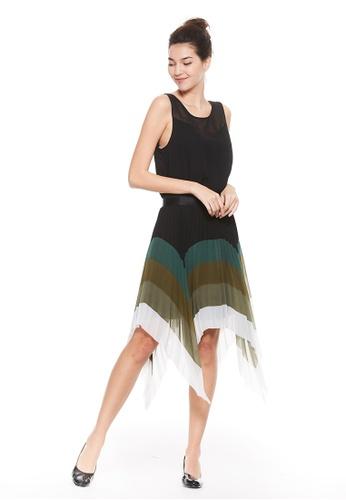 Sisley black Asymmetrical Sleeveless Dress. DBC36AAFA8E090GS_1