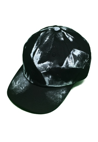 M-Wanted black M. Paint Splash Baseball Cap MW173AC0FTI1SG_1
