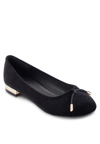 金屬低跟蝴蝶結娃娃鞋zalora 台灣, 女鞋, 鞋