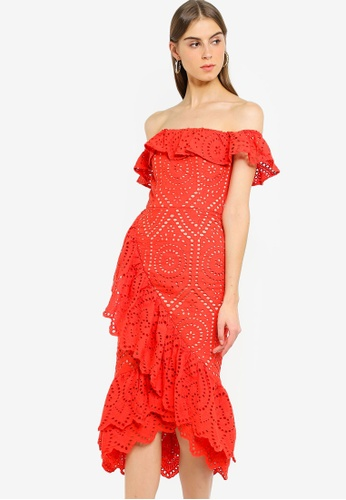 0053ff9c30e Shop JARLO LONDON Jaz Midi Lace Dress Online on ZALORA Philippines
