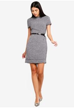 cc1970cdd3b01 20% OFF ZALORA Fray Edges Tweed Dress S$ 39.90 NOW S$ 31.90 Sizes XS S M L  XL