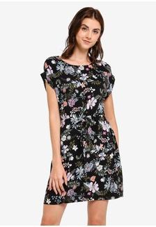 602f2db2f3d Buy Kitschen Floral Smokey Cut Out Shoulder Short Dress Online ...