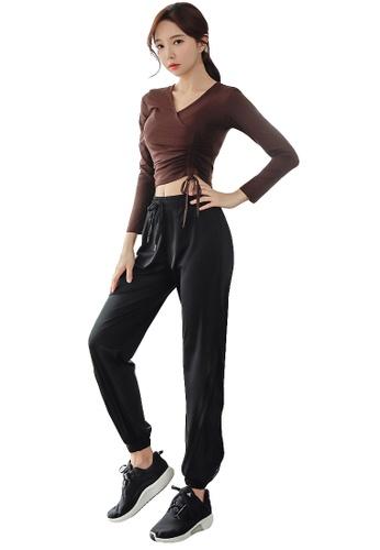 YG Fitness multi (2PCS) Quick-Drying Running Fitness Yoga Dance Suit (Tops+Bottoms) DDBD8US926D15EGS_1