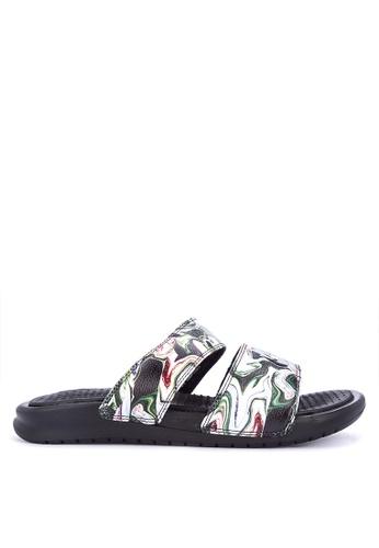 Nike black Women's Nike Benassi Duo Ultra Slide Lifetyle Shoes 2D39ASH6206285GS_1