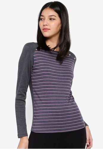 OVS grey Striped T-Shirt D466BAAE337699GS_1