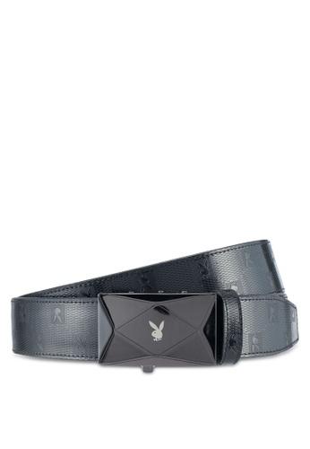 Playboy black Playboy 35mm Automatic Bukle Belt AAEACAC42ADA08GS_1