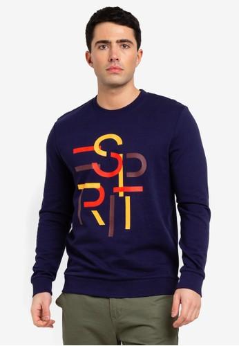ESPRIT navy Long Sleeve Sweatshirt F017AAA69E0904GS_1