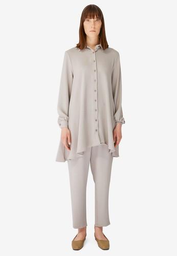Trendyol grey Button Down Shirt & Pants Set 2ABADAAA2AB03DGS_1
