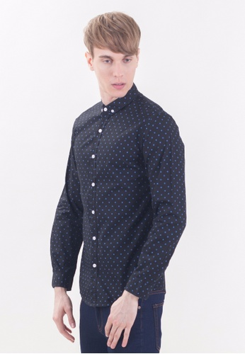Drum Smart Casual Long Sleeve Shirt-BLK DR425AA08RPNMY_1