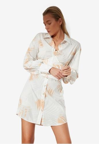 Trendyol multi Printed Corset Shirt Dress A40E1AA6054A3DGS_1