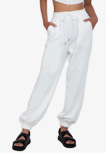 ZALORA BASICS white Easy Jogger Pants BAE25AA57E3722GS_1