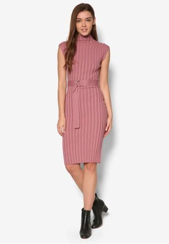 羅紋D 扣環連身裙, 服飾esprit outlet hk, 洋裝