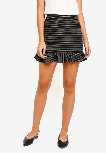 ZALORA black Ruffles Mini Skirt 71661AA6DA8CDBGS_1