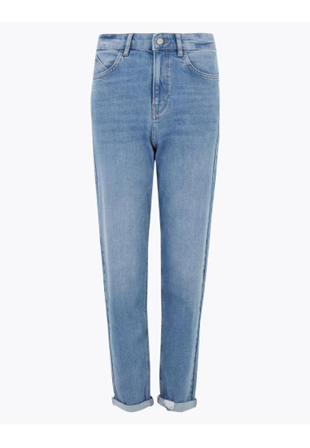 MARKS & SPENCER blue M&S Boyfriend Jeans A1020AAA4EE75FGS_1