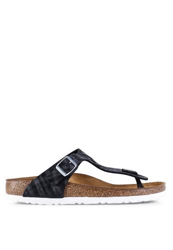 307a8745318 Shop Birkenstock Gizeh Shiny Check Sandals Online on ZALORA Philippines