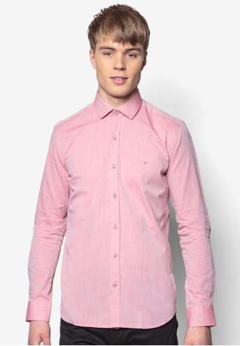 合身長袖襯衫, esprit台灣官網服飾, 印花襯衫
