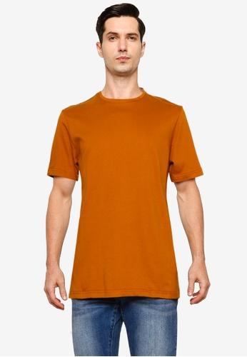 UniqTee brown Essential Crew Neck T-Shirt D9478AAE1E4998GS_1
