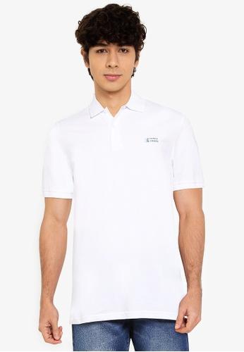 Jack & Jones white Alpha Short Sleeves Polo Shirt F776CAA9D22466GS_1