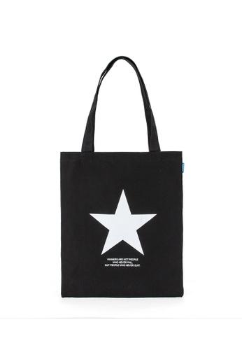 Peeps black Star Eco Bag DB576ACD0EA7B7GS_1