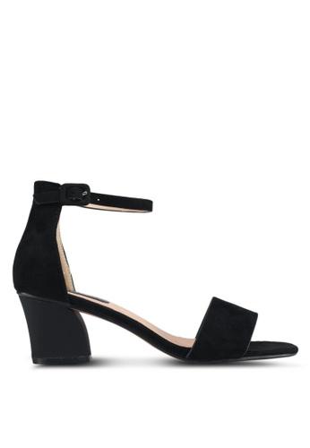 LOST INK black Belinda Low Block Heeled Sandals D3F75SH0C2B8E8GS_1