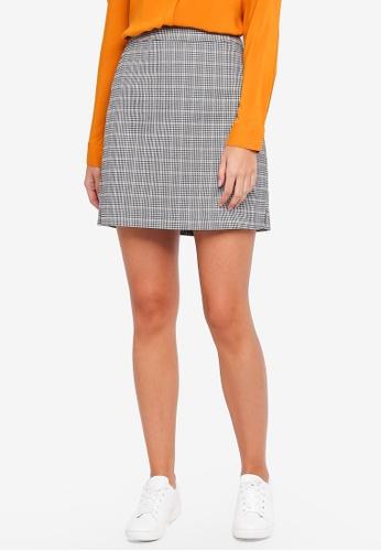 Vero Moda grey Kamma Chequered Skirt 12E76AA9D53B56GS_1