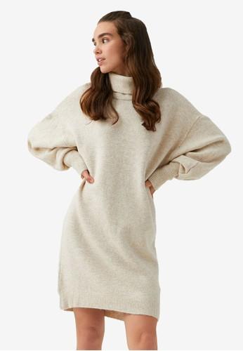 KOTON beige Sweater Dress 55A09AA092D818GS_1