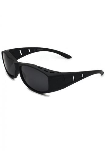 jojo black Classic Fitover Cut-Out Polarized Sunglasses 65C1FGLE12B209GS_1