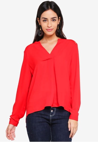 Vero Moda red Gudrun Long Sleeve Top 768EBAAA0B8C58GS_1