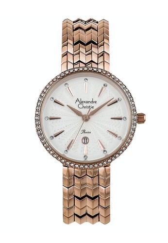 Alexandre Christie gold Alexandre Christie Jam Tangan Wanita - Rosegold White - Stainless Steel - 2742 LDBRGSL D3E7DAC4F2A127GS_1