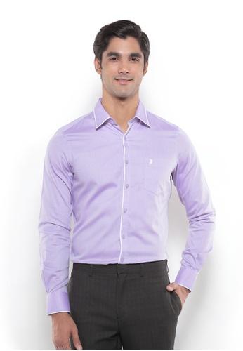 POLO HAUS multi Polo Haus - Men Woven Shirt (Purple/White) PO783AA72YRVMY_1