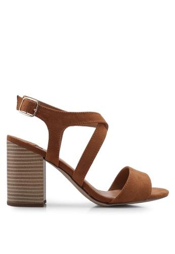 2f47338d97e Dorothy Perkins brown W Tan Spye Crossover Heeled Sandals E22D5SHB1A9FB3GS 1