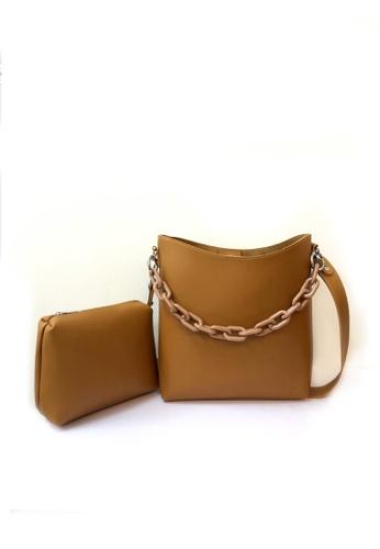 GreyPlus brown SEALY Crossbody Shoulder Chain Bag C0885AC09DAF69GS_1