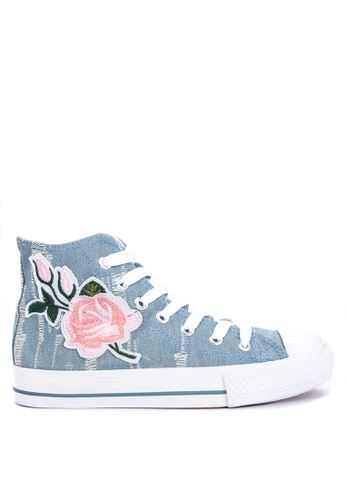 BENCH blue High Top Sneakers 04829SHE65143DGS_1