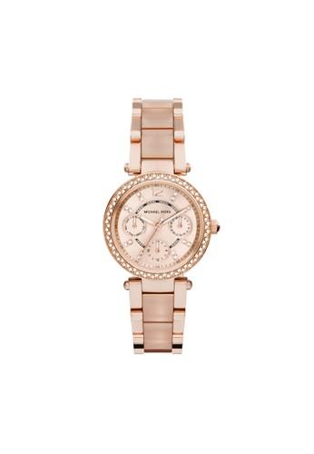 Mini Paresprit門市ker鑽飾計時腕錶 MK6110, 錶類, 時尚型