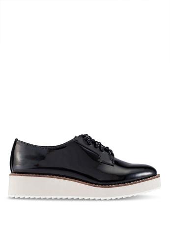 ZALORA 黑色 Platform 德比 鞋 D4CBBZZ36738C9GS_1
