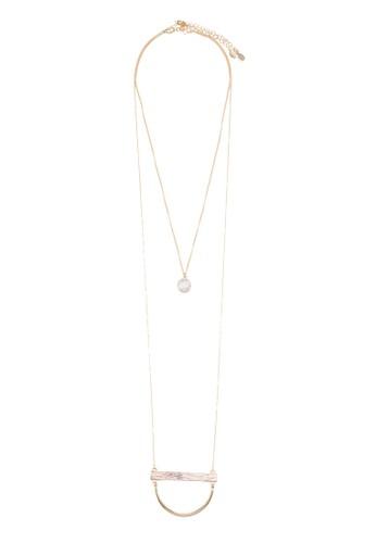 Hievia 雙股層次zalora 心得項鍊, 飾品配件, 項鍊