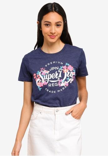 Superdry 海軍藍色 LOGO印花T恤 9B4EEAA069FA36GS_1